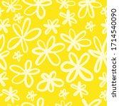 cute repeat daisy wildflower...   Shutterstock .eps vector #1714540090