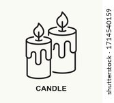 candle line icon. two burning... | Shutterstock .eps vector #1714540159
