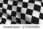 Checkered Flag. Black And White ...