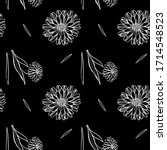 seamless pattern with ink hand... | Shutterstock . vector #1714548523