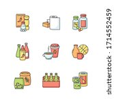groceries rgb color icons set.... | Shutterstock .eps vector #1714552459