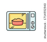 ready meal rgb color icon.... | Shutterstock .eps vector #1714552543