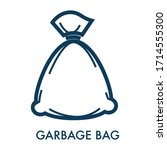 garbage bag filled with rubbish ... | Shutterstock .eps vector #1714555300