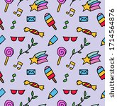 vector pattern from colored... | Shutterstock .eps vector #1714564876
