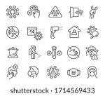 flu and coronavirus icons set.... | Shutterstock .eps vector #1714569433