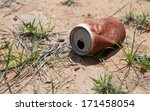 Old Rusty Beverage Can In The...