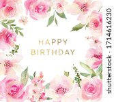Watercolor Card With Delicate...