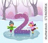 flashcard for kindergarten and... | Shutterstock .eps vector #1714630816