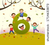 flashcard for kindergarten and... | Shutterstock .eps vector #1714633873