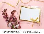Greeting Card Mockup. Lilac...