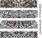 knot designs in celtic style...   Shutterstock .eps vector #171464330