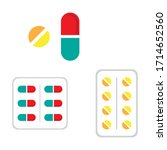 medical pills and capsules icon ... | Shutterstock .eps vector #1714652560