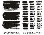 flat paint brush thin lines  ... | Shutterstock .eps vector #1714658746