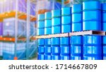 Blue Barrels Are Stored In...