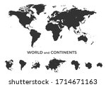 world map and continent set.... | Shutterstock .eps vector #1714671163