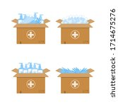 humanitarian support in...   Shutterstock .eps vector #1714675276