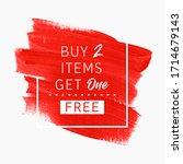 buy 2 get 1 free sale text over ... | Shutterstock .eps vector #1714679143