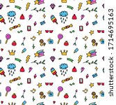 vector pattern from colored... | Shutterstock .eps vector #1714695163