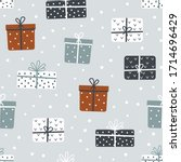 christmas and happy new year... | Shutterstock .eps vector #1714696429