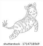 Vector Cute Zebra Outline....