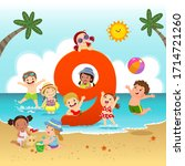 flashcard for kindergarten and...   Shutterstock .eps vector #1714721260