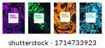 vector illustration of stains... | Shutterstock .eps vector #1714733923