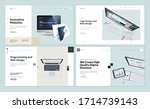 set of flat design web page... | Shutterstock .eps vector #1714739143