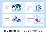 set of flat design web page...   Shutterstock .eps vector #1714740496