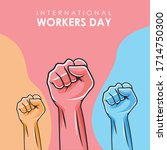 international workers day color ... | Shutterstock .eps vector #1714750300