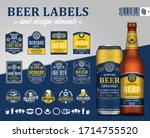 vector blue and yellow premium...   Shutterstock .eps vector #1714755520