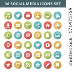 web site vector icons set... | Shutterstock .eps vector #171475739