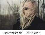 portrait of beautiful girl on... | Shutterstock . vector #171475754