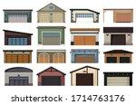 garage isolated cartoon set... | Shutterstock .eps vector #1714763176