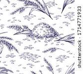 rice seamless pattern. hand... | Shutterstock .eps vector #1714771933