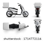 delivery scooter. realistic... | Shutterstock .eps vector #1714772116