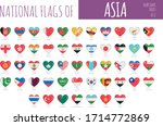 set of 51 heart shaped flags of ... | Shutterstock .eps vector #1714772869