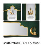 ramadan mubarak design set....   Shutterstock .eps vector #1714775020
