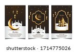ramadan mubarak design set....   Shutterstock .eps vector #1714775026
