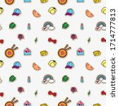 vector pattern from colored... | Shutterstock .eps vector #1714777813