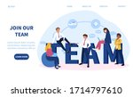 join our team or business... | Shutterstock .eps vector #1714797610