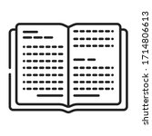 open book black line icon. book ...
