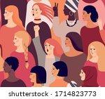 international womens day.... | Shutterstock .eps vector #1714823773