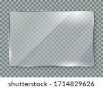 glass plate on transparent... | Shutterstock .eps vector #1714829626