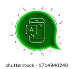 ab testing line icon. chat...