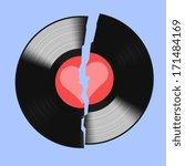 Broken Realistic Vinyl Record...