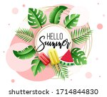 summer sale banner. sale tag.... | Shutterstock .eps vector #1714844830