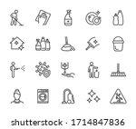 vector set of cleaning line...   Shutterstock .eps vector #1714847836