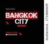 bangkok city tahiland original... | Shutterstock .eps vector #1714860649