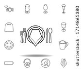 formal dinner icon. set can be...
