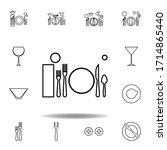 lunch  table etiquette icon....